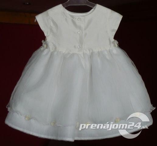 7bf12a031d69 Na prenájom - slávnostné šaty pre družičku aj na krst