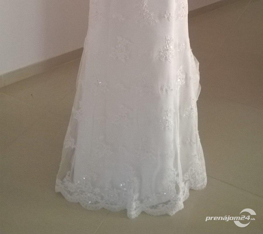 Biele romantické svadobné šaty 713291b2c1a