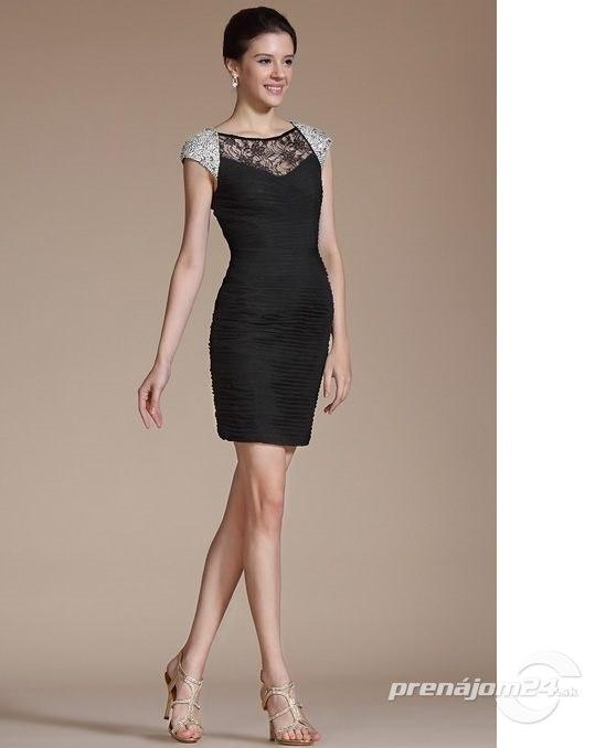7abe51e5ee8 Čierne šaty s čipkou