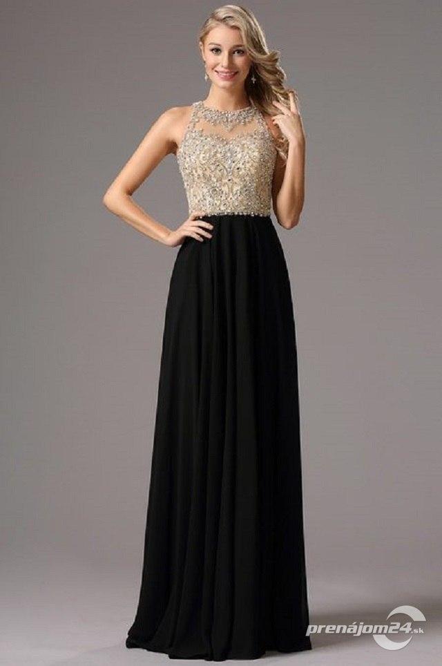 3f4aaf12f97 Čierno-béžové šaty