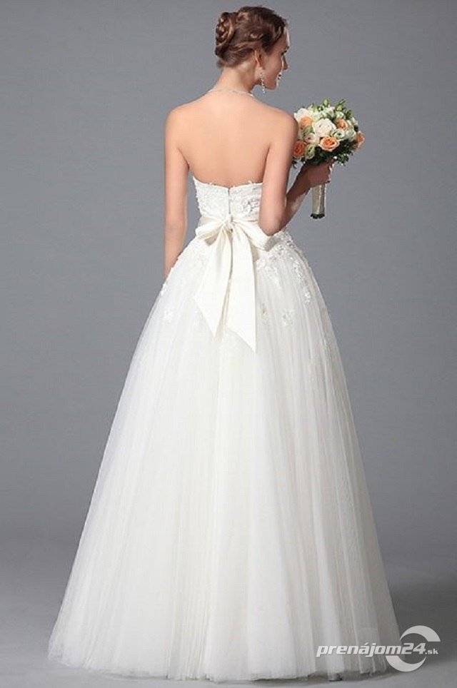 Dlhé biele svadobné šaty 16f298fc716