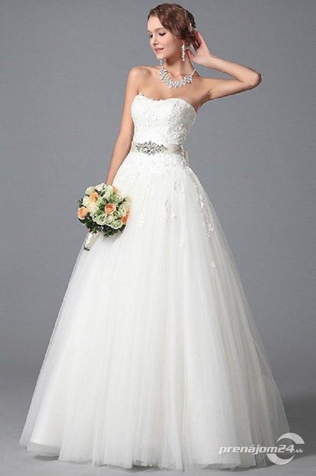 029c578dc545 Dlhé biele svadobné šaty