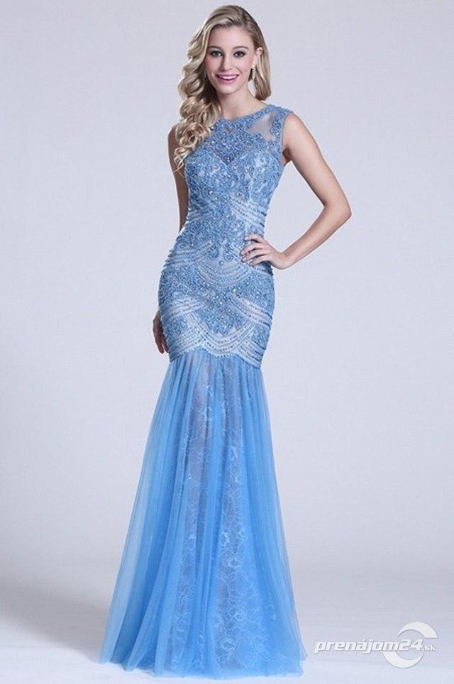 9c027ce485ef Nebesky modré šaty