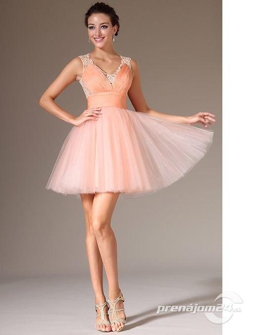 d71a74346d3b Romantické marhuľové šaty s tylovou sukničkou