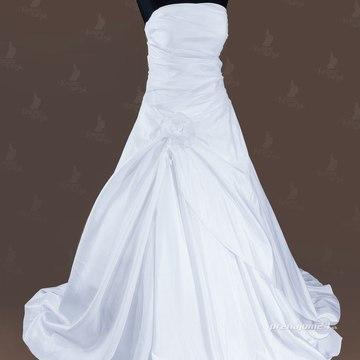 Biele jednoduché svadobné šaty s vlečkou 63f18bb6843