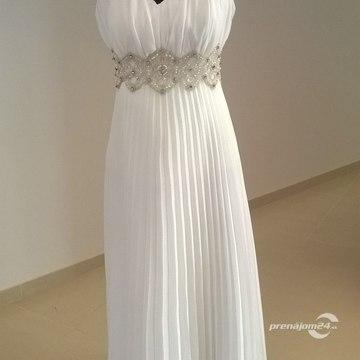 549c45eb960f Dlhé svadobné šaty so zapínaním okolo krku